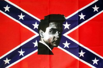 REBEL ELVIS (CONFEDERATE) - 5 X 3 FLAG
